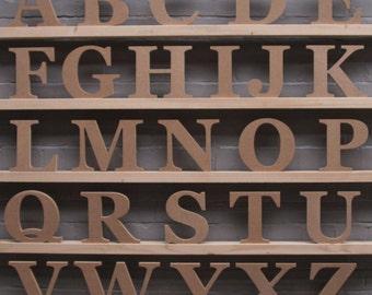 Alphabet Set: Georgia Font Freestanding 18cm High.  MDF