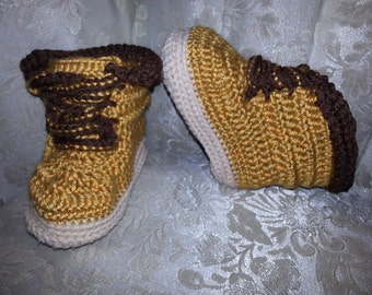 Little Man Work Boots Crochet Pattern by Yarntivity *PATTERN ONLY*
