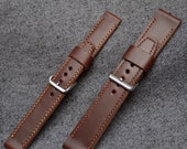 Saddleback Leather Watch Strap in Chestnut, Handmade and Hand-Stitched to Order