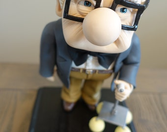 Carl Fredricksen UP Disney Decoration, Art, Cake Topper, Sculpture, Disney Party, UP Party, Baby Shower