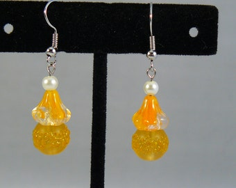 """Abstract """"Candy Corn"""" Earrings"""