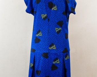 Blue 20s cut dress