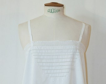 60s White Camisole dress