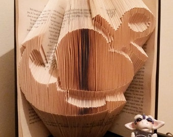 Heart Anchor Book Fold Art