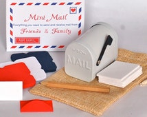 Mini mailbox - Tiny mailbox with tiny envelopes and envelope letters - Miniature mailbox - Fairy Mail - mail boxes - Friends and Family
