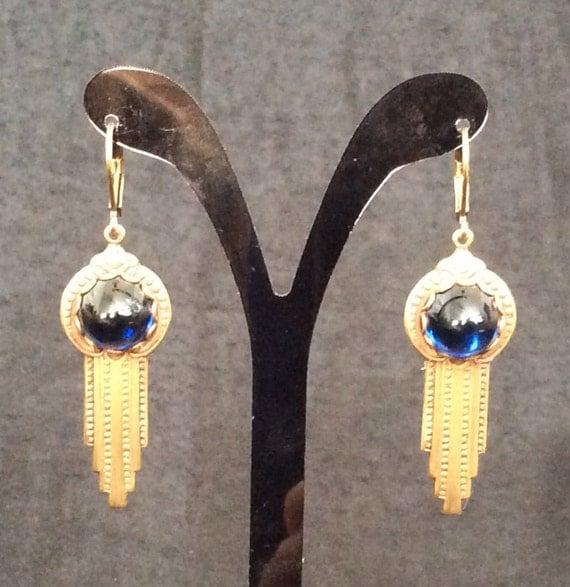 Fancy Yellow Chalcedony Sterling Silver Overlay 14 Grams Earring 2 Long Ethnic Wear