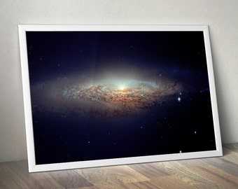 Hubble UFO Galaxy Poster - Galaxy Wall Art, Outer Space Prints, Outer Space Art - Dorm Room, Art Prints Online