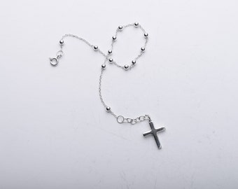 Sterling Silver Cross wrist Bracelet
