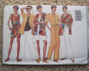 UNCUT Misses Top, Shorts and Pants - Size 12 to 16 - Butterick Sewing Pattern 3505 - Vintage 1994