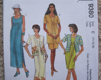 UNCUT Misses Dress and Jacket - McCalls Pattern 9380
