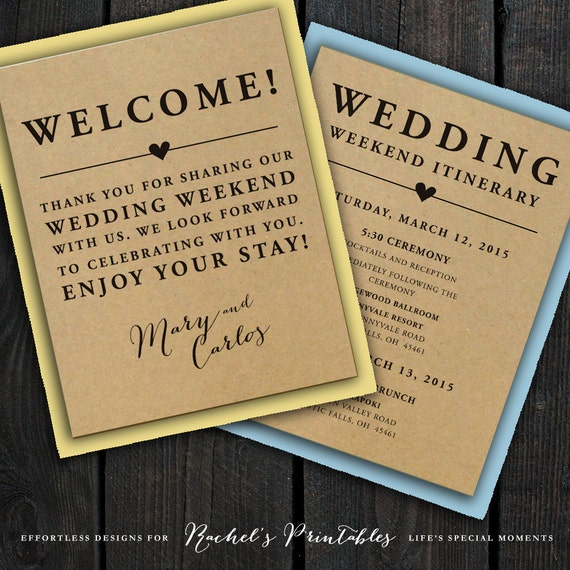 Letter For Hotel Guests Welcome Bag Wedding Pictures To