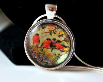Vintage Bird Pendant - Silver Plated 18 inch Chain