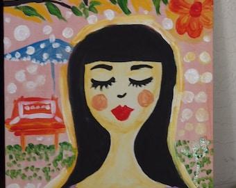 Katahimikan PEACE  Original acrylic painting