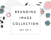 Branding Image Collection | black, white and Light Coral | Styled Photography | Website Banner