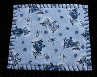 Light Blue Counting Sheep Pet Bed Available In S