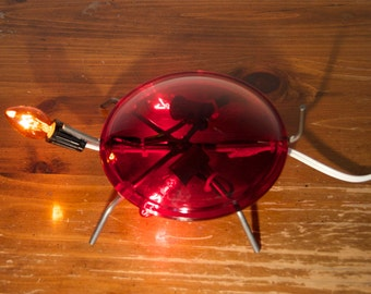 Handmade Turtle Decor Lamp or Night Light made from Recycled Theatre Lighting Lenses