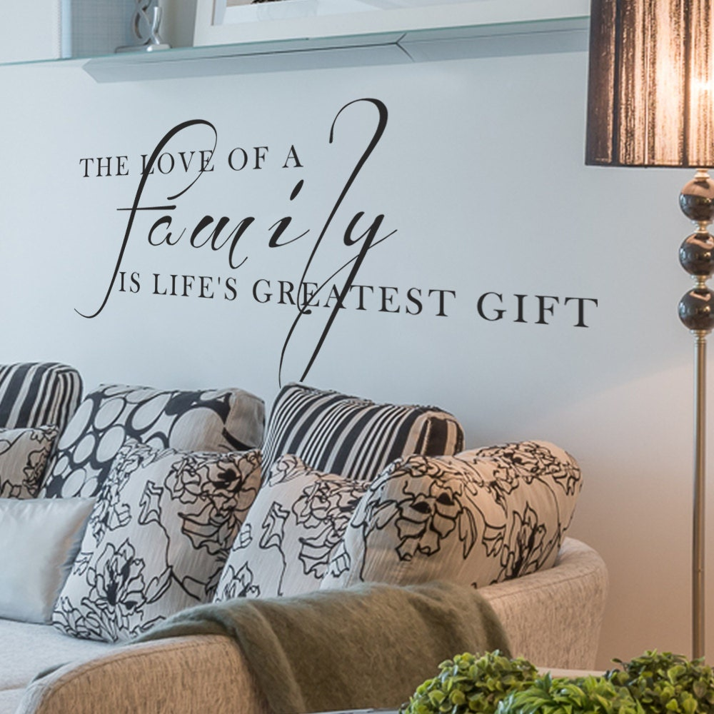 Living Room Wall Quotes: Family Vinyl Quotes Living Room Decor Love Wall Words Art
