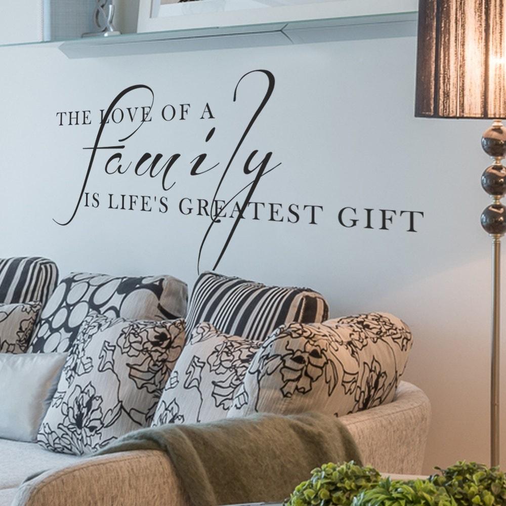 Family Vinyl Quotes Living Room Decor Love Wall Words Art