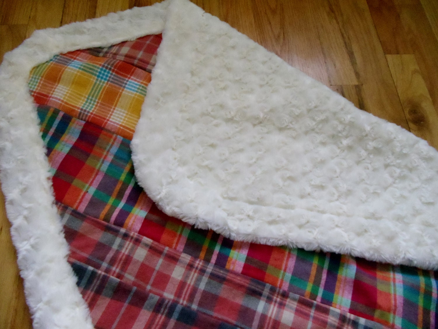 Plaid Baby Quilt: Baby Quilt Madras Plaid Flannel Blanket Minky