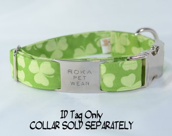 ID Tag - Stainless Steel - Contoured - Jingle Free