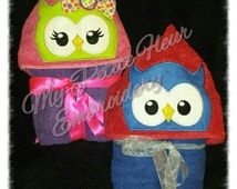 5x7 Boy and Girly Owl Design