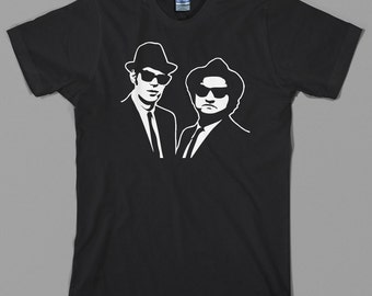 Blues Brothers T Shirt, movie, retro, john belushi, bluesmobile, 80s, cult, comedy, funny - Graphic tee, All Sizes