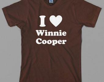 I Heart Winnie Cooper T Shirt  - love, wonder years, 60s, tv show series, fred savage, 80s, vintage, retro - Graphic tee, All Sizes & Colors