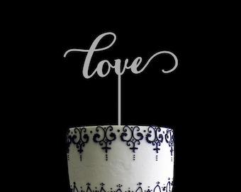 Love Wedding Cake Topper