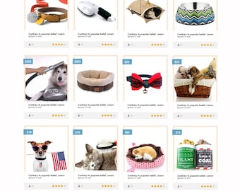 Pet Product Selling E-Commerce Website, eCommerce Template, WordPress eCommerce, eCommerce Web Theme, Online Pet Store, WordPress Web Design