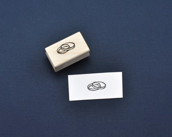 Petri Dish Rubber Stamp, Hand carved Science Geek Stamp