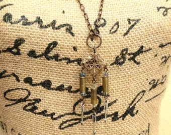 Bullet, Filigree, and Arrow Necklace
