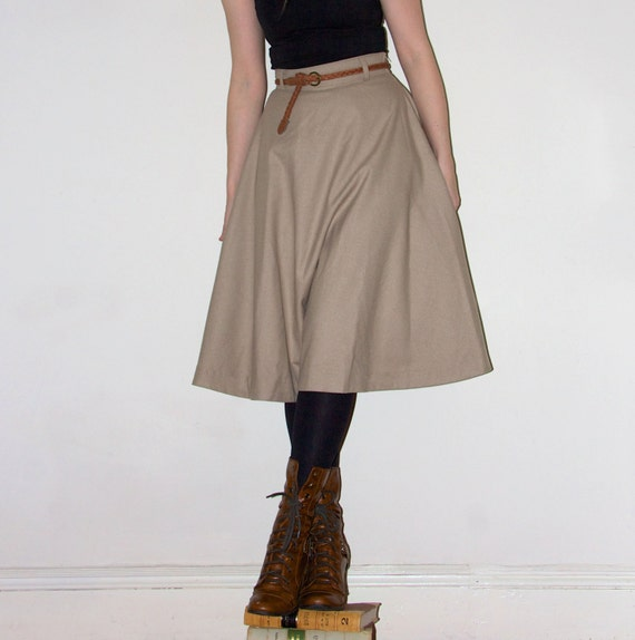 items similar to fifties style circle skirt in midi