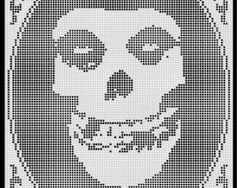 Misfits (Filet Crochet imitation) Cross Stitch Pattern INSTANT DOWNLOAD