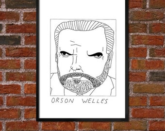 Badly Drawn Orson Welles - Poster - *** BUY 4, GET A 5th FREE***
