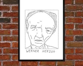 Badly Drawn Werner Herzog - Poster