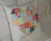 Sweetheart Patchwork Mini Quilt or Pillow Cover