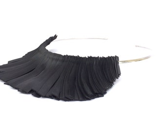 Necklace long rubber inner tube, BLADE RUBBER CREW-Neck color Black