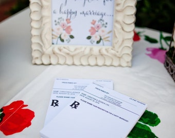 "Unique Wedding Guestbook Idea - 50 sheet ""Prescription"" Note Pad - perfect for brides and grooms in the medical profession"