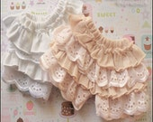 Lace Frilly Shorts - 2 COLORS - BJD 1/4 1/3 SD13 MSD Boy Girl Mori Gyaru
