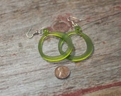 Acrylic Earrings hoop shaped, Pink, Green, White, laser cut acrylic, wedding jewelry, gifts under 20