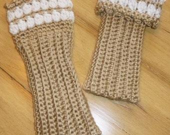 Versatile Sparkling Clusters Crochet Fingerless Gloves Wrist Warmers
