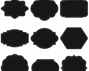 18 Chalk board Frames Clip Art,  Digital Clip Art, Chalkboard Frames, Clipart Frames, Digital Download, Borders Clip Art, Chalkboard Labels
