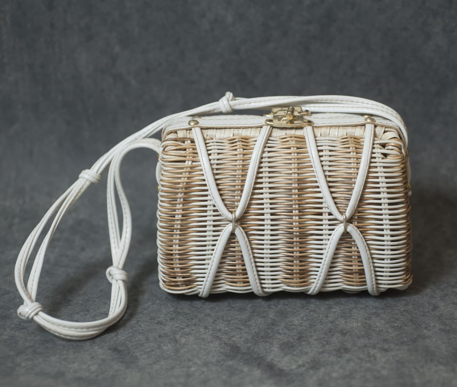 Woven Basket Purse : S woven basket purse sixties spring by themavenofvintage