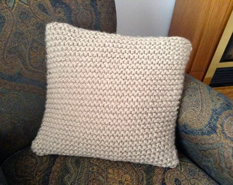 "Knit 18"" Square Pillow Cover"