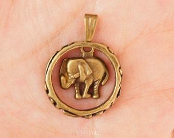 10pcs 21mm Antique Bronze Elephant Charms