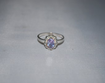 Sterling silver Amethyst ring size 7.5