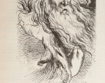 King Lear - Shakespeare - Act IV, Scene VI - Matted Vintage Book Page Illustration - 11x14