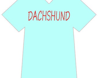 Dachshund In Hearts T-Shirt