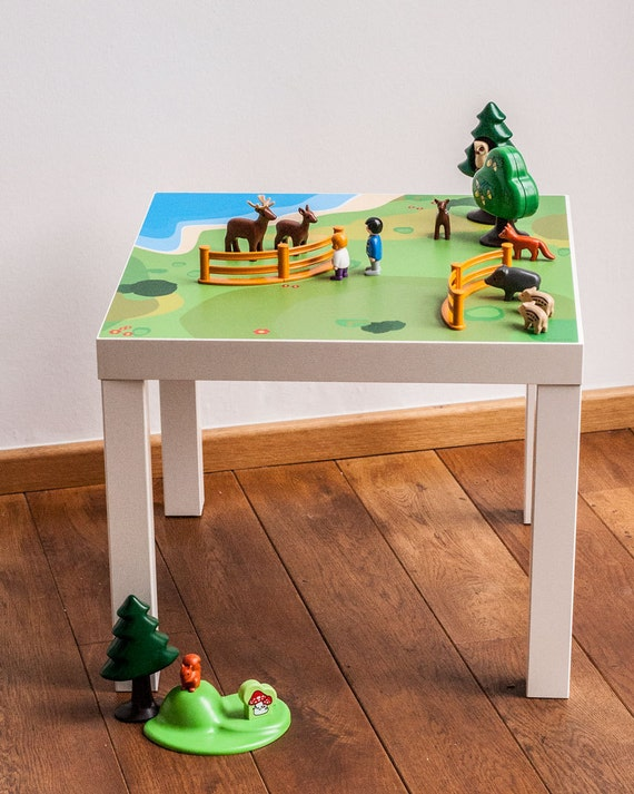 IKEA hacks Lack side table tabletop playground