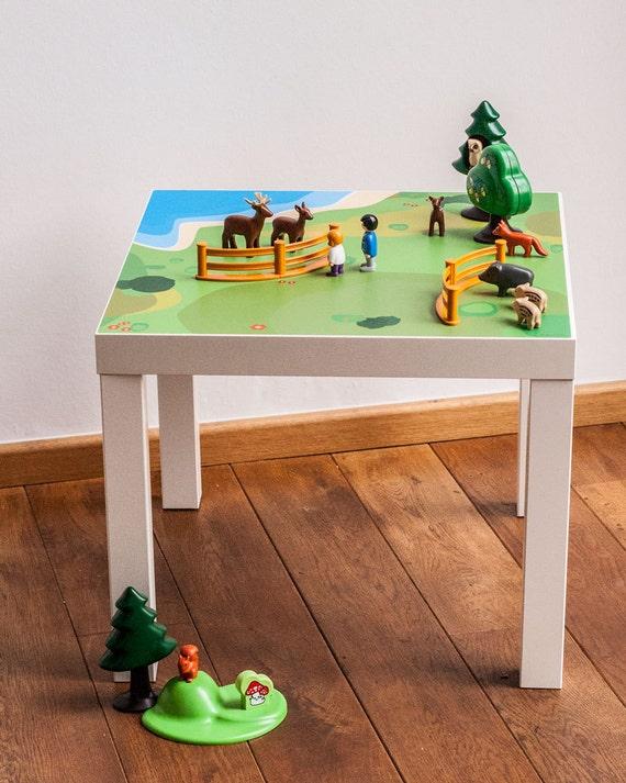IKEA hacks Lack side table tabletop playground